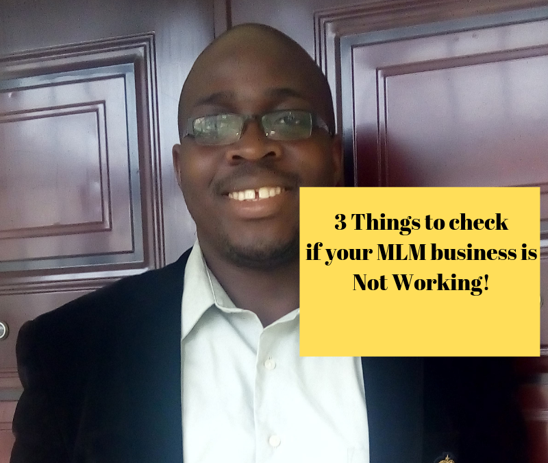 MLM Success – 3 Things To Check If Your Business Is Not Working